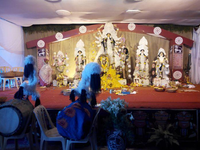 Culmination of Durga poojas