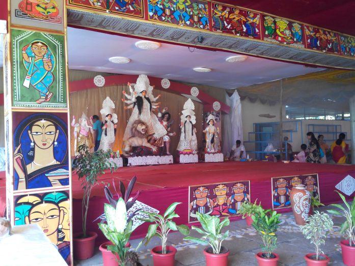 Durga pooja pandal