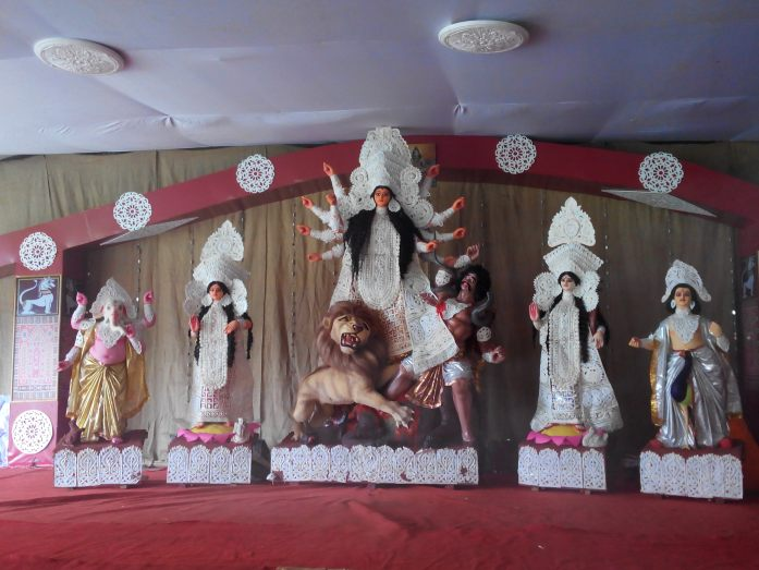Goddess Durga with her children