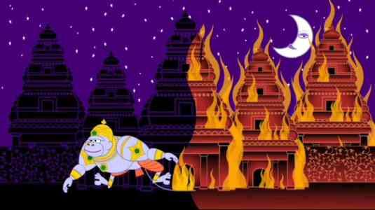 Hanuman burns Lanka