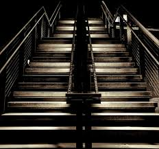 long stairs in the dark