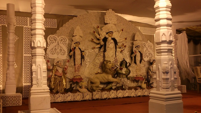 first glimpse of Durga panchami